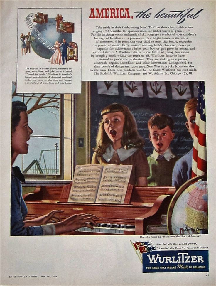 1946 Wurlitzer Piano Vintage Advertisement Music Room Wall Art Bedroom Decor Stanley Eckman Original Magazine Print Ad Piano Teacher Gift by RelicEclectic on Etsy
