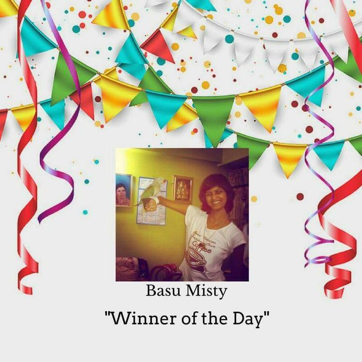 Heartiest Congratulations to Basu Misty. All the best for the next riddle. #timeforpet #contestalert #contest #timeforcontest #riddle #solveitwinit #bangalore #wednesday