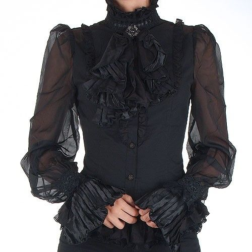 Black Victorian Gothic Shirt