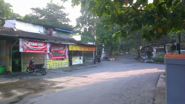 View of street from home stay