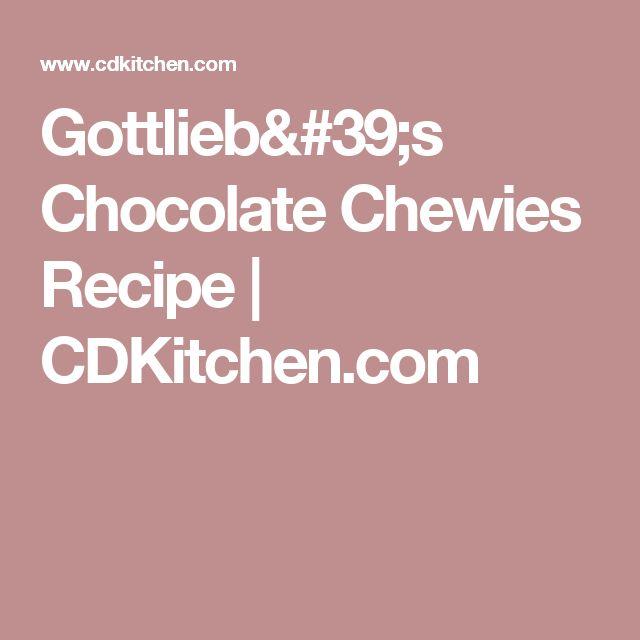 Gottlieb's Chocolate Chewies Recipe | CDKitchen.com