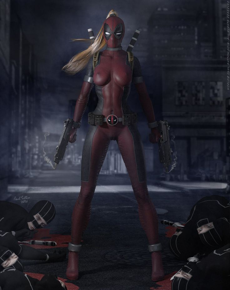 Lady Deadpool ...Ninja Attack! 'Dark City' Series by DevilishlyCreative on DeviantArt
