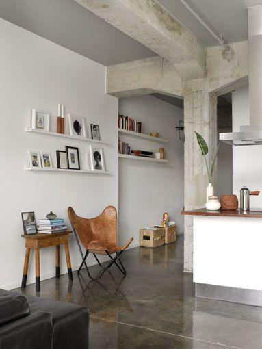 Concrete, white and neutrals