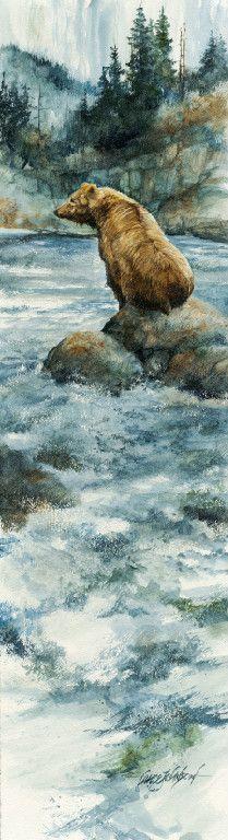 Watercolor painting in nature. Lance Johnson, Billings MT Sunrise Art Gallery