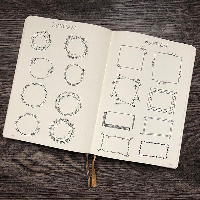 Verschiedene Dekoelemente, mit denen du dein Bullet Journal verzieren kannst – Einfach Lilienhaft