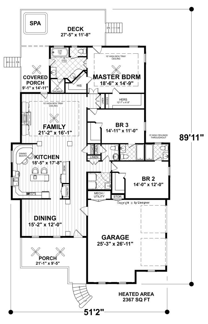 This Classic Craftsman Cottage Ranch House Plan Is Perfect For A Narrow Lot It S So