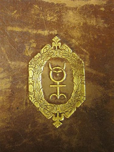 The symbol invented by John Dee, Queen Elizabeth's court astrologer, to represent the reformation of the world, an inspiration to the Rosicrucians, often seen in their books, was the emblem painted on the boxes of alchemical supplies imported by the son of the founder of Massachusetts Bay Colony.