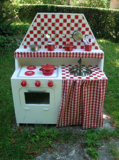 Cuisiniere en bois enfant, Fabriquer un jouet - Loisirs créatifs