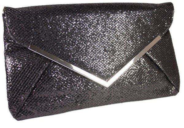 GLITTER ENVELOPE STYLE EVENING CLUTCH BAG �16.99