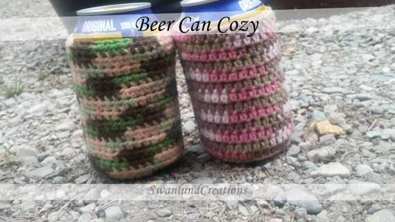Check out this item in my Etsy shop https://www.etsy.com/ca/listing/452991542/beer-can-cozy-choose-your-colour-hand