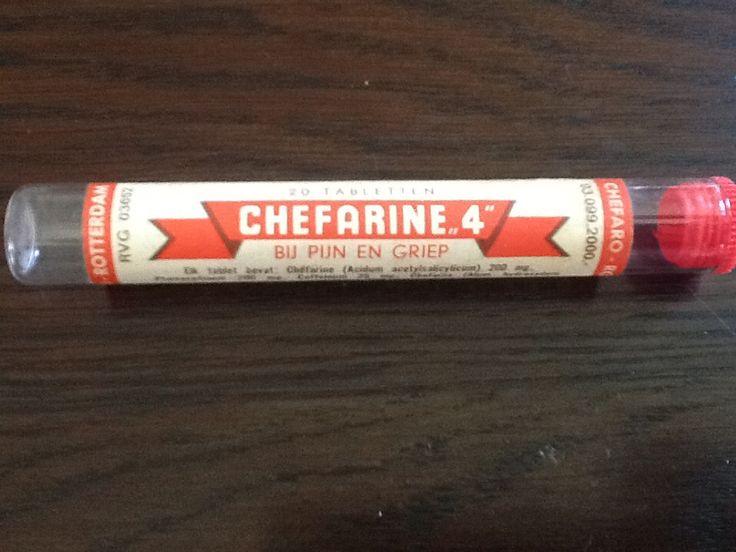 Chefarine 4. Heb heel was buisjes gekocht bij de  buurtdrogisterij. Mijn moeder had veel last van Migraine. Ondanks dat een hele fijne jeugd gehad.