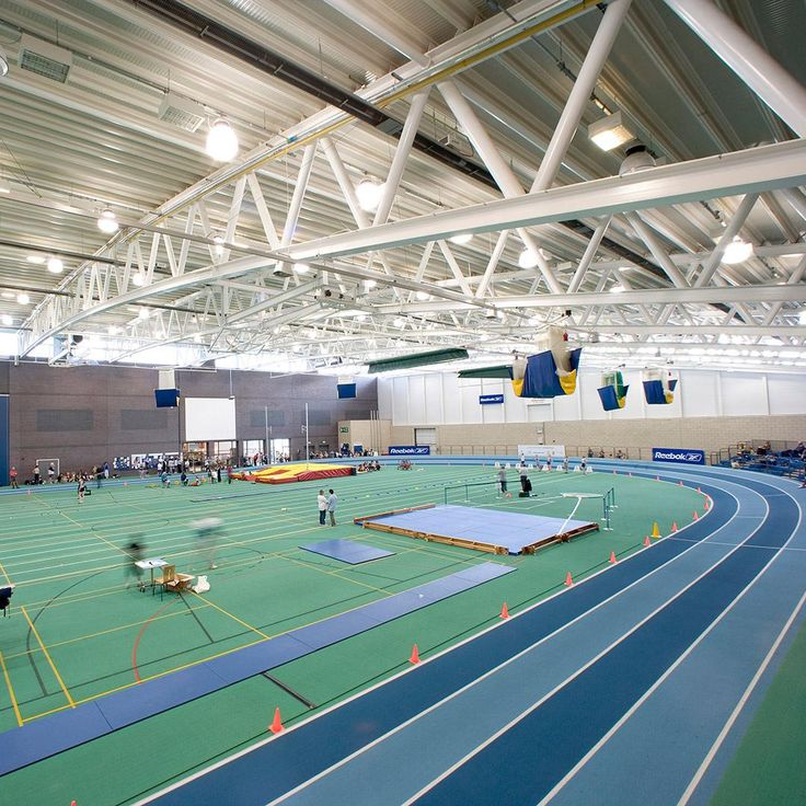 Indoor running track at EIS Manchester | sports hall ...