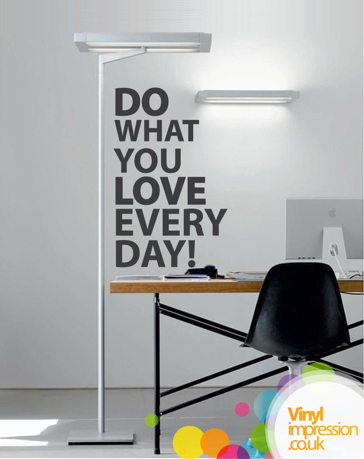 Do what you Love Wall Sticker by Vinylimpression on Etsy