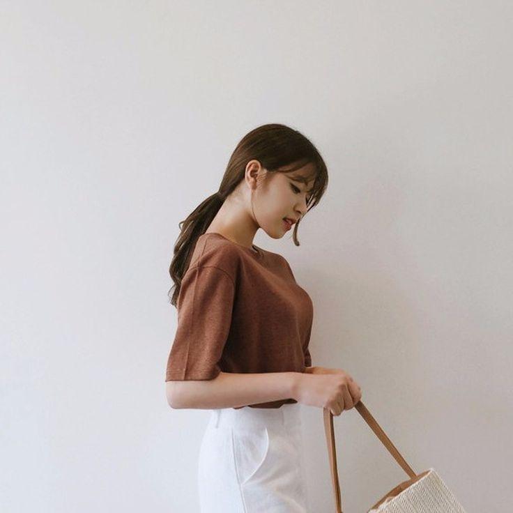 ♡クルーネックルーズフィットリネン半袖Tシャツ♡ #レディースファッション #ファッション通販 #ファッショントレンド #新作 #最新 #モテ服 #韓国ファッション #韓国レディース通販 #ootd #wiw  #fashionaddict #womensfashion #fashion  https://goo.gl/9jHAIk