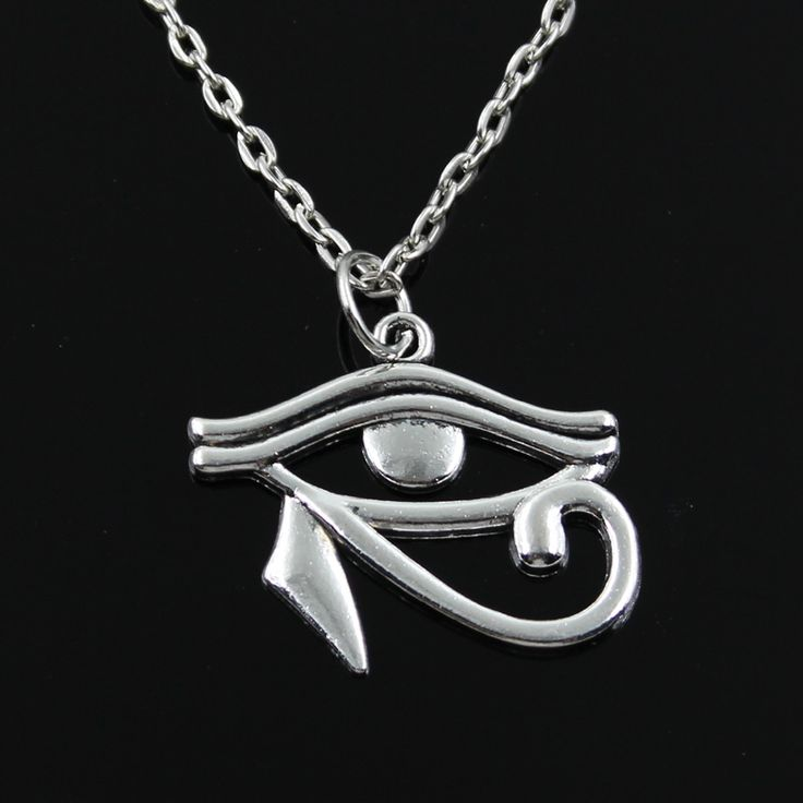 new fashion ancient egypt eye of Horus Pendants round cross chain short long Mens Womens silver  necklace Jewelry Gift