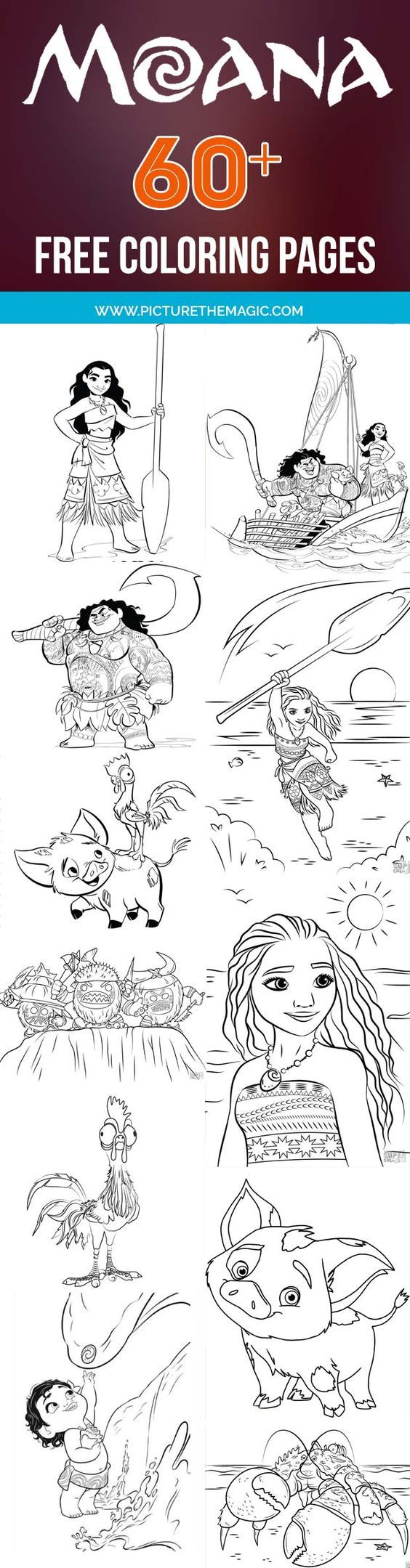 59 Moana Coloring Pages September 2017 Edition