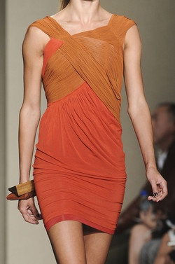Donna Karan Spring 2010 Runway Draped Dress on eBay http://www.ebay.com/itm/NWT-2695-Donna-Karan-New-York-RUNWAY-Collection-Orange-Draped-Gown-Dress-sz-L-/131975338518?