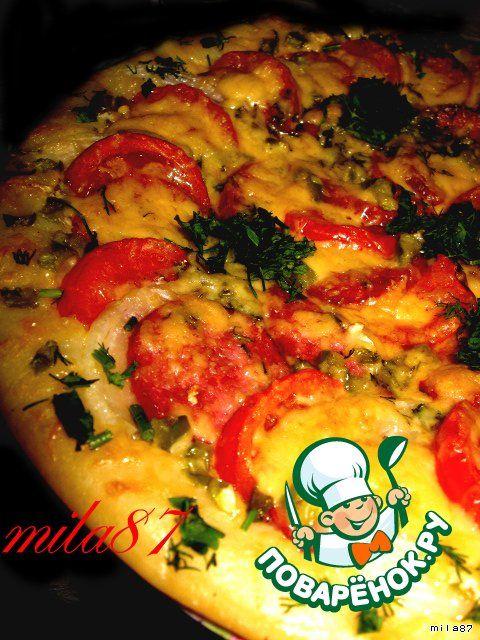 """Самая лучшая пицца """"А-ля пеперони... double cheese"""" - кулинарный рецепт"""
