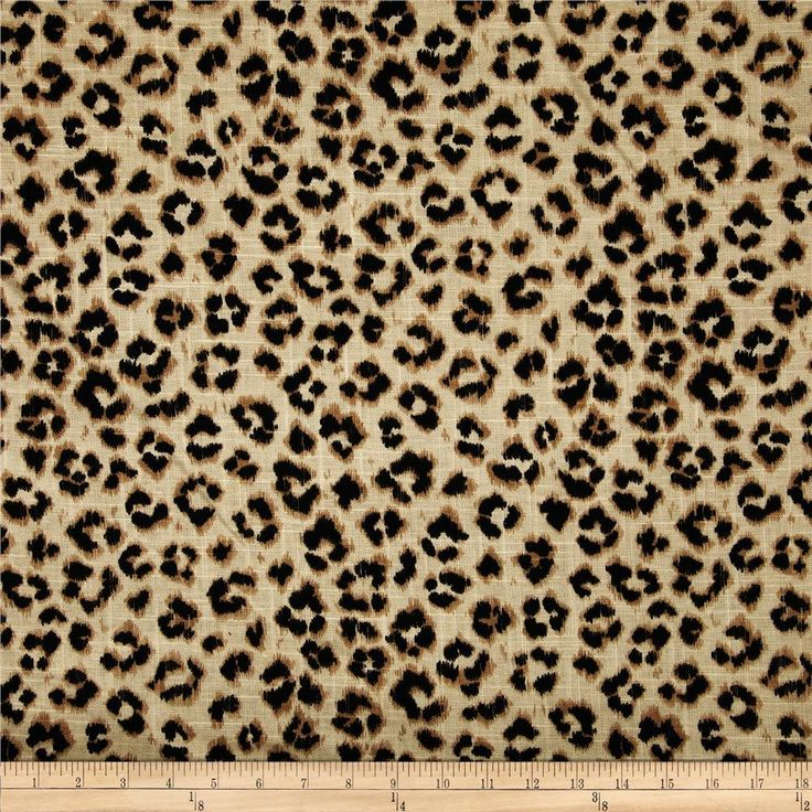 Jaclyn smith 02100 animal print blend leopard window for Animal print window treatments
