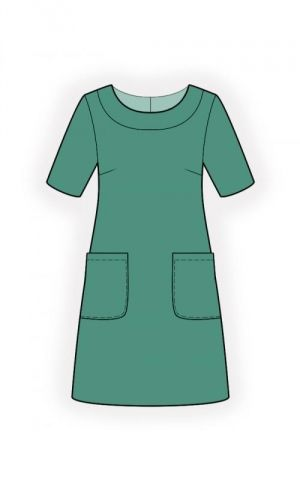 Simple Dress - Sewing Pattern #4517+ Free Printable Sewing Pattern