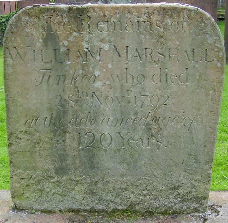 """The resting place of the """"king of the gypsies"""" dated 1792, William """"Billy"""" Marshall of the scottish western lowlands. it is said he was 12o years when he died. Kirkcudbright cemetery, Dumfries & Galloway, Scotland"""