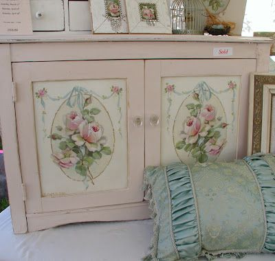 Christie: Painted Roses, Idea, Painted Furniture, Shabby Chic, Pink, Painted Cabinets, Photo, Shabbychic