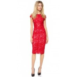 Nina Ricci Cap Sleeve Lace Dress | Dressy Cart