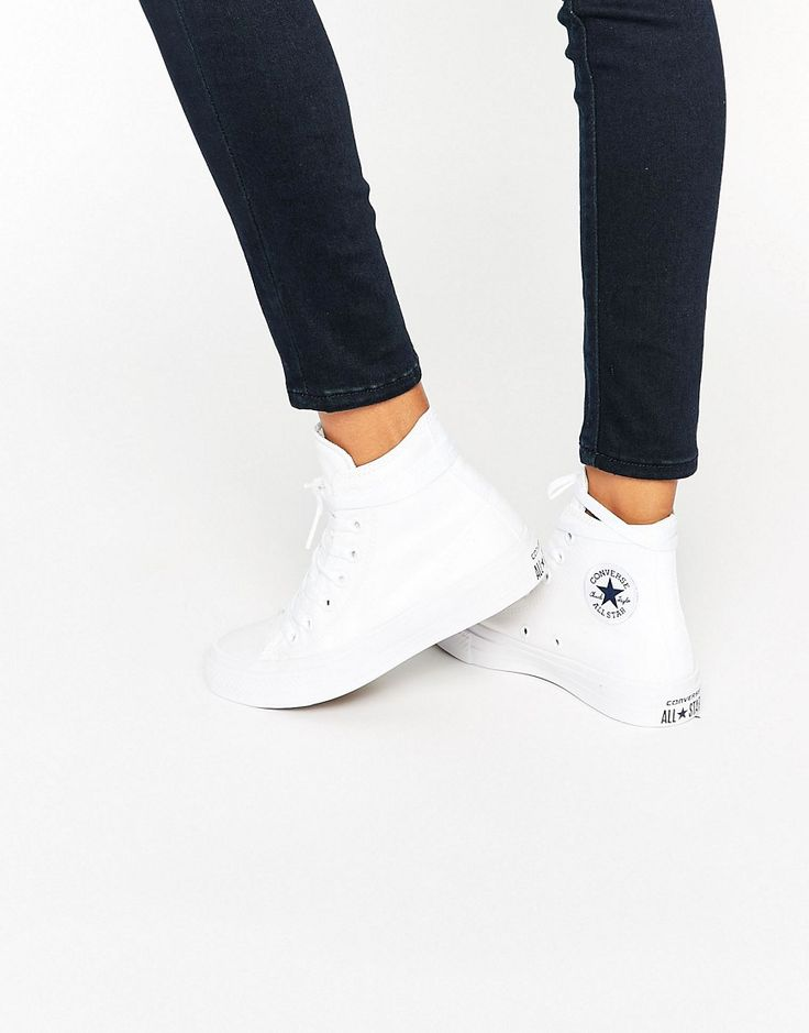 Image 1 of Converse All Star Chuck Taylor II White High Top Trainers http://www.95gallery.com/