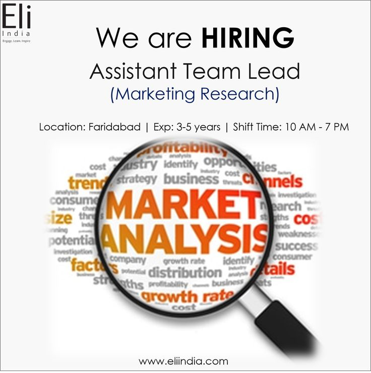 Marketing Research Jobs Faridabad, Marketing Research Opening Delhi NCR - Eli India