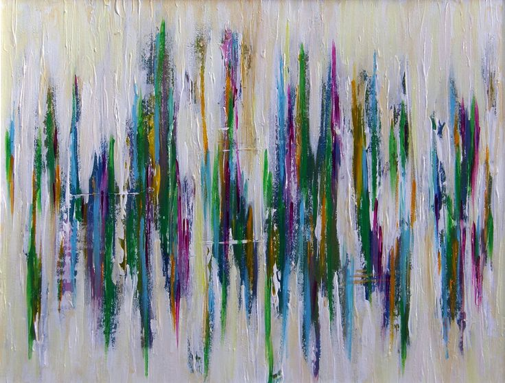 Acrylics 60x81 cm - title: Northern Lights by Celina Schou