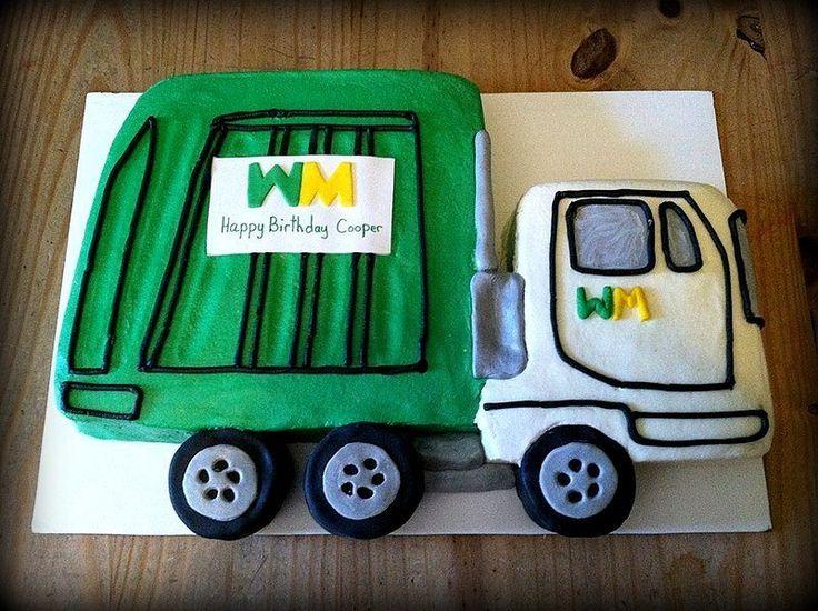 Buttercream Garbage Truck Birthday Cake