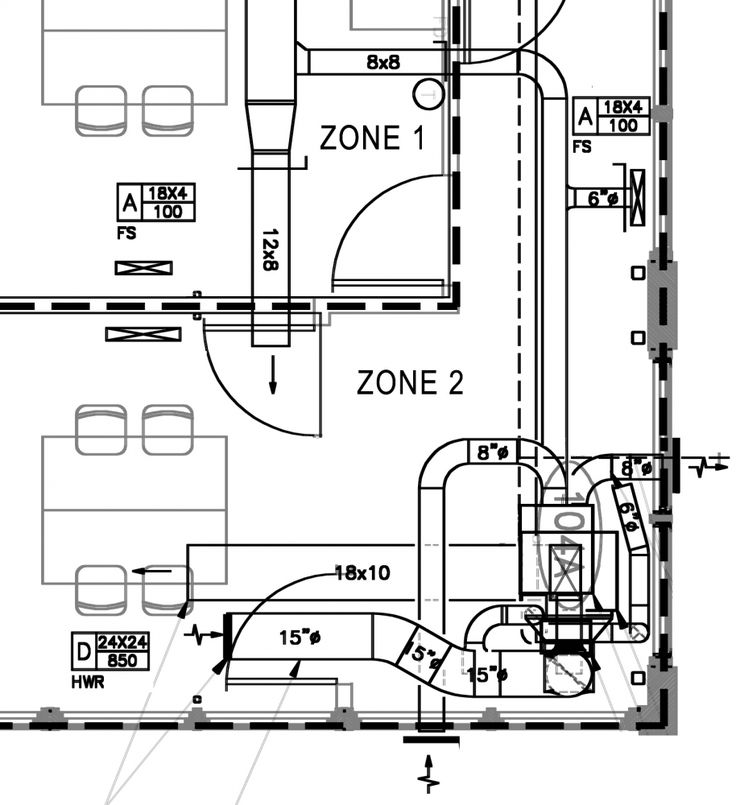 sample residential hvac layout drawing