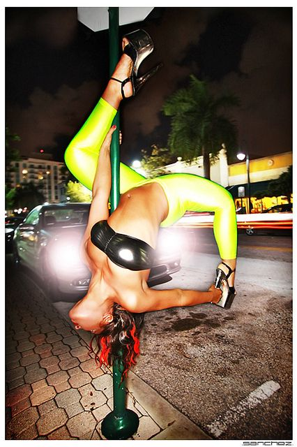 Pole Fitness on the Streets!This is just amazing