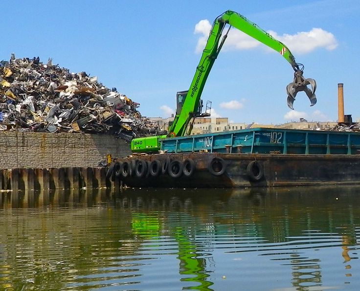 With so many green submissions capturing nature this green grabber at a metal recycling plant on the Bronx River in New York City really grabs attention; and what a vivid green it is.