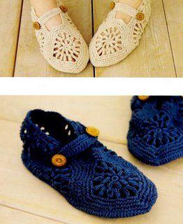 tutorial chaussons granny: http://crocheybebe.blogspot.com.es/2008/09/grfico-e-montagem.html