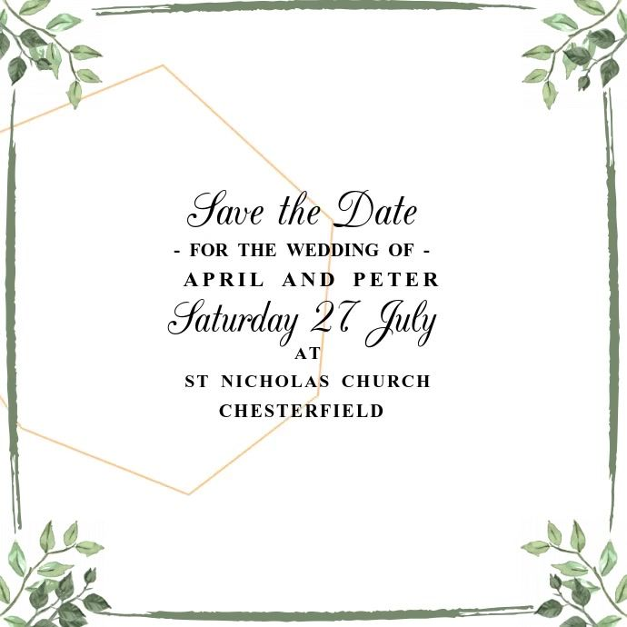 Save The Date Wedding Video Template Wedding Invitation Card Template Wedding Invitation Cards Wedding Invitations