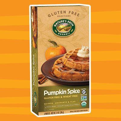 Healthy Pumpkin Products for 2017: Nature's Path Organic Gluten Free Pumpkin Spice Frozen Waffles