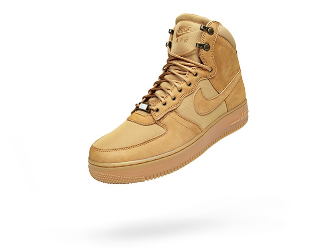 Air Force 1 Boot, riffing on the timberland wheat color. #Nike