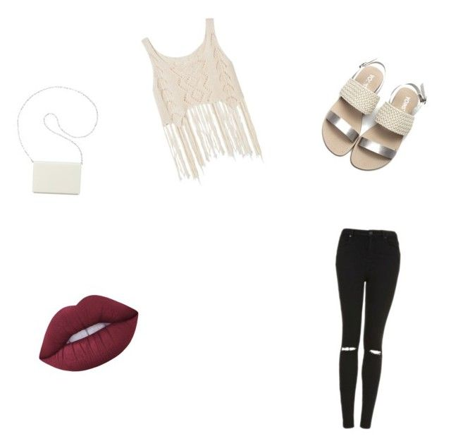 """""""First style"""" by fabbelfashion11 ❤ liked on Polyvore featuring Topshop, Lime Crime and Nine West"""