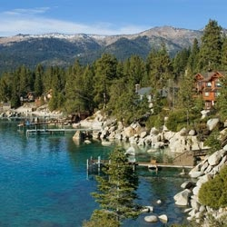 Lake Tahoe in the summer--don't like the cold...