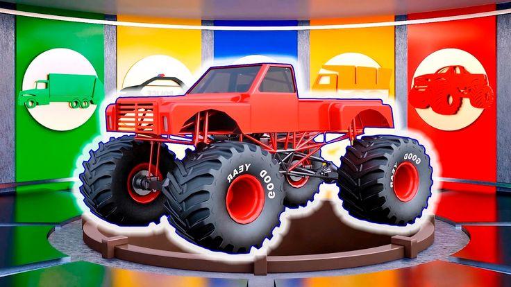 Monster Truck & Trucks - Vehicles Disassembly for Children | Learn Color...
