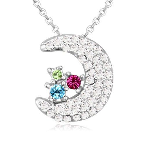 $8,8 Moonlight star Swarovski crystal necklace - Yohanna Jewelry Wholesale. BEST PRICE: Directly in the jewelry factory. VAT-free shopping: Available, partners based in the European Union, only applies to EU tax identification number (UID). Exclusive design SWAROVSKI crystals and AAA Zircon crystal jewelry and men's stainless steel jewelry and high-quality stainless steel jewelry for couples sell in bulk to resellers! Please contact us.