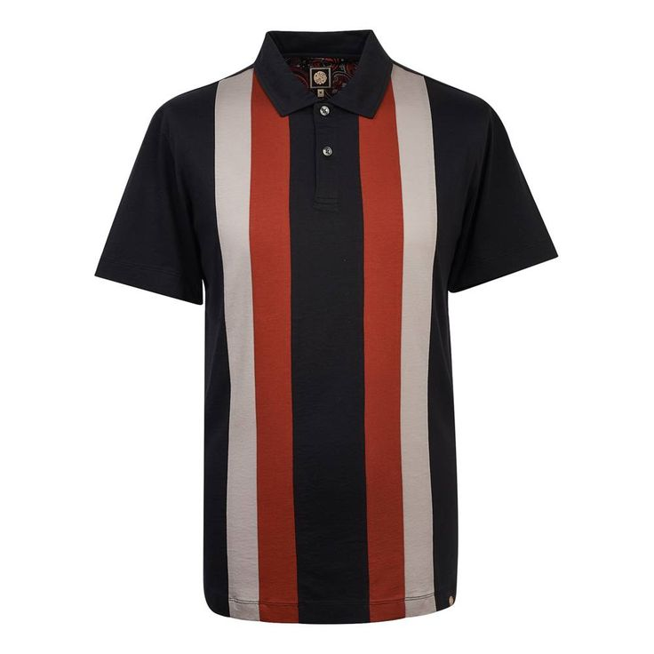 "<p>— Crafted from cotton jersey<br>— Cut in a slim fit<br>— Two button chest placket<br>— Contrast stripe colour block panels<br>— Signature branded lustrous buttons<br>— Model is 6'1"" and wears a size medium<br></p><p>Composition — 100% Cotton</p><p><i>Machine washable</i></p>"