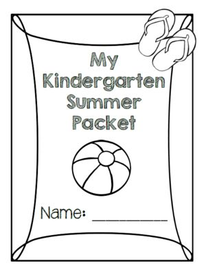 Ready for Kindergarten! Summer Packet from ZoeCohen on