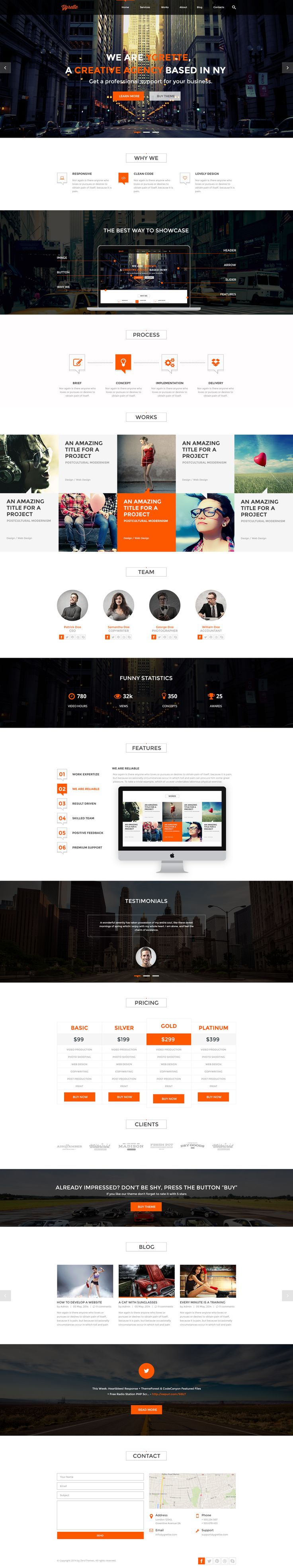 YGRETTE is a clean and minimalist #theme for your #agency, #studio or #design…