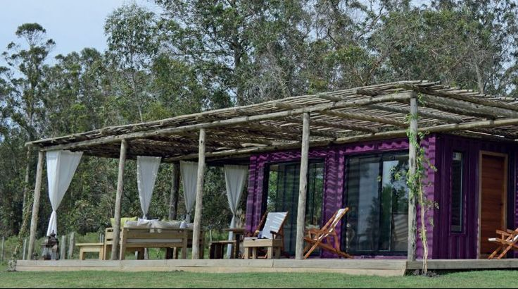 Great Retreat rentals for those with acreage in vacation destinations. Shipping container cabins! Love