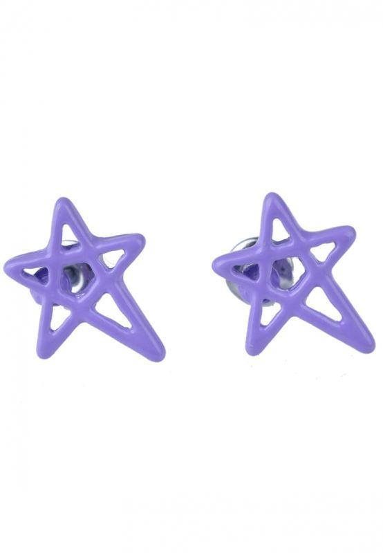 Pentagram/Ster LilaPaars Oorbellen bij Trendy Goodies - € 2,50