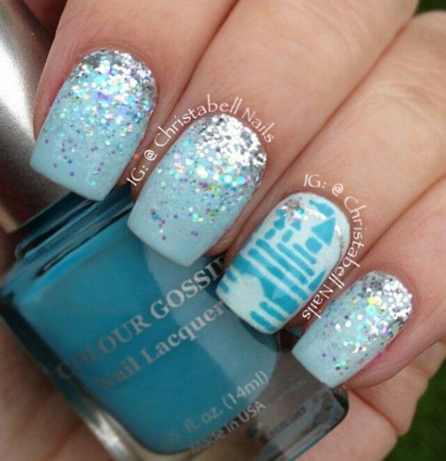 Cinderella Nails: Cinderella's Castle.