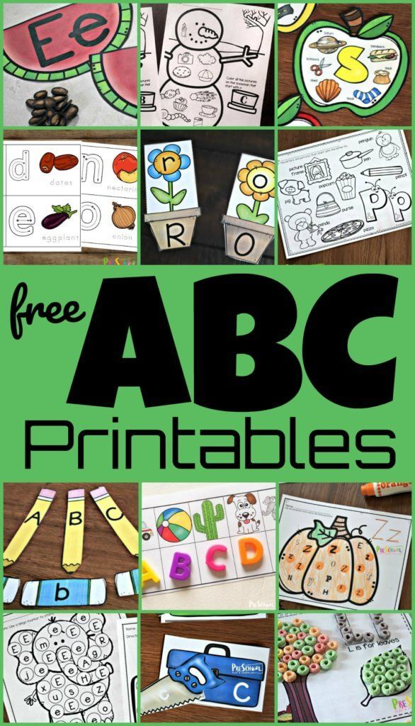 FREE ABC Printables -make Learning Letters Fun With These Alphabet  Worksheets, Alphabet Printable… Preschool Alphabet Printables, Abc  Printables, Learning Letters