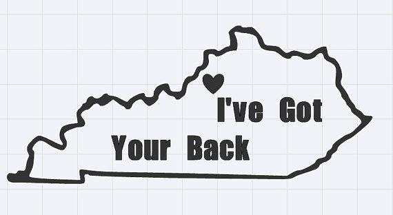 "Louisville Cardinals ""I've Got Your Back"" Car Decal; University of Louisville Basketball  ElleShelDesigns"